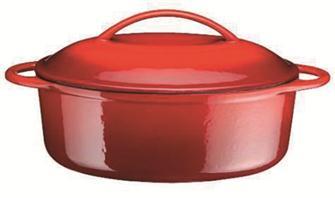 Cocotte en fonte ovale 28 cm 2 litres