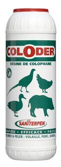 Colophane Coloder pour peler et plumer 600 g. cochon sanglier volailles gibier