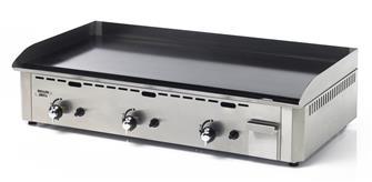 Plancha pro gaz 3 feux 90 cm 9600 W émaillée 10 mm