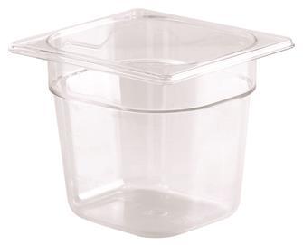 Bac gastro sans BPA GN 1/6 h. 15 cm en copolyester