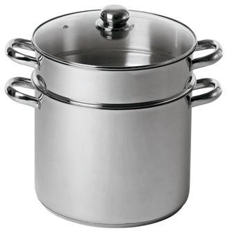 Couscoussier 30 cm 16 litres en inox