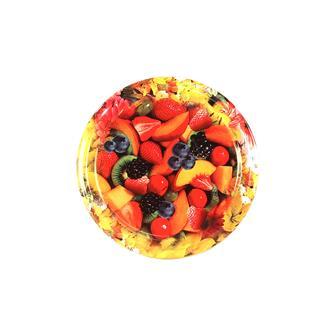 Capsules Twist-off décor fleurs et fruits 63 mm par 10