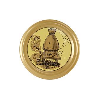Capsules Twist-off miel ruche paille 63 mm par 10