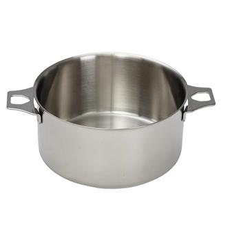 Casserole inox 24 cm sans queue
