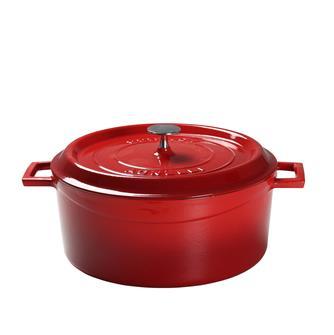 Cocotte fonte ronde 32 cm rouge