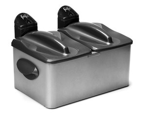 Friteuse 3 200 W deux cuves 3,5 litres en inox