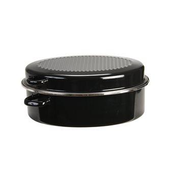 Cocotte roaster emaillée bords inox qualité lourde grand modèle 42 cm tous feux
