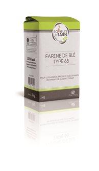 Farine de blé usage courant T65 agriculture raisonnée du Tarn