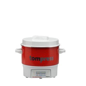 Stérilisateur émaillé digital Tom Press petit modèle 16 litres pince à bocaux OFFERTE