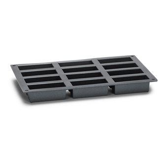 Moule 12 mini cakes silicone noir avec particules de métal