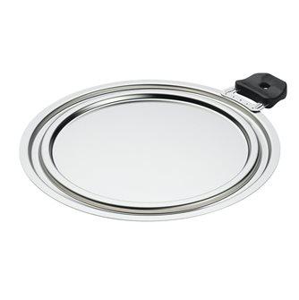 Couvercle gain de place 3 diamètres iInox 20, 22, 24 cm