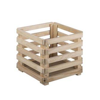 Caisse en bois 38 cm de pin massif