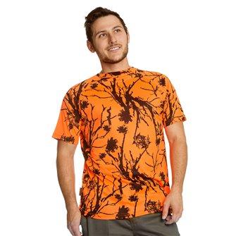 Tee shirt homme respirant Bartavel Diego camo orange XXL
