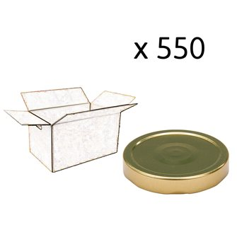 Capsule pour Bocal Jupe Haute diam 82 mm couleur Or par 550