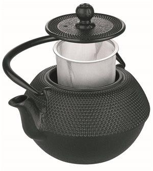 Théière en fonte noire 720 ml filtre inox compatible induction