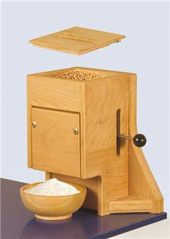 Moulin à farine manuel en bois grande capacité jusqu´à 4,5 kg par heure