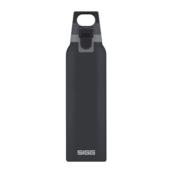 Gourde isotherme inox gris foncé 0,5 litre avec bouchon filtre manipulable une main Hot & Cold One Shade Sigg