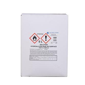 Solution hydroalcoolique 5 litres pour désinfection des surfaces